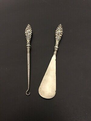 Vintage Retro English Still Shoe Horn And Lace Hook