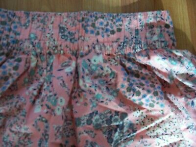Pink floral short summer cotton skirt from H&M,Size XS