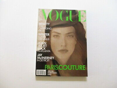 VOGUE MAGAZINE October 1988. Herb Ritts Cover - Special Portfolio: Italy