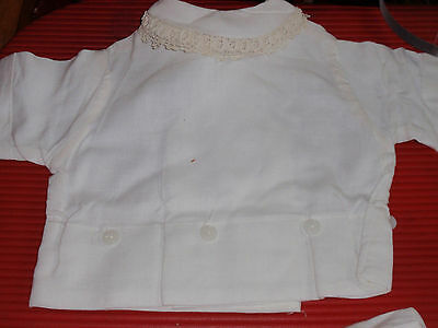 Vintage Young Childs Linen And Lace Outfit