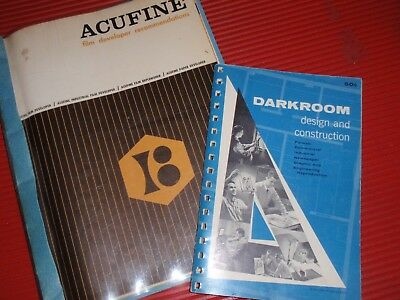 3 Vintage Photography Darkroom Acufine Catalogs Manuals Craftsman Leather Cases