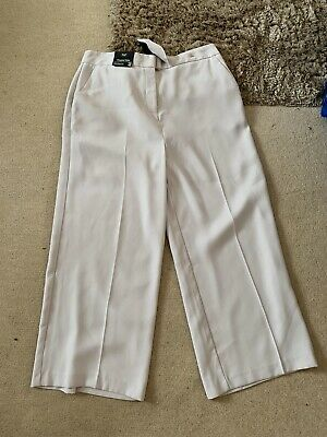 BNWT Womens/Girls F+F cropped wide trousers size 14