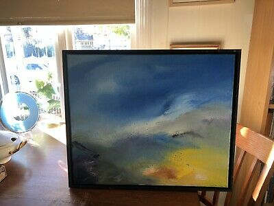 Stunning Framed Original Signed, Abstract Oil Seascape By Netherlands Artist
