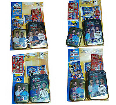 Match Attax Season 2019/20 Small Tin Mega Tin Bundle Uefa Champions League