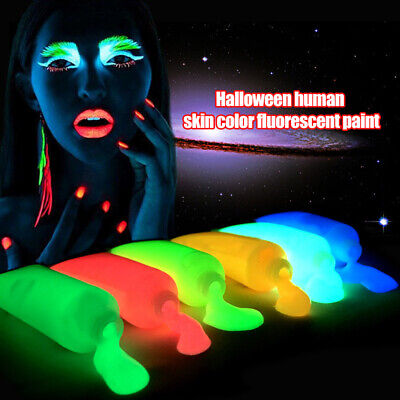 Glow In The Dark Fluorescent Makeup Face Body Art Paint Christmas Party DIY