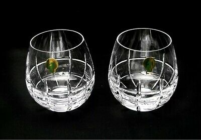 Waterford Crystal Cluin 12 Ounce Stemless Red Wine Glasses Set of 2 NWT
