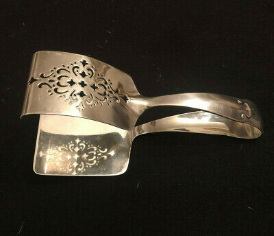 Antique Tiffany and Co Sterling Silver Asparagus Serving Tong in Flemish Pattern