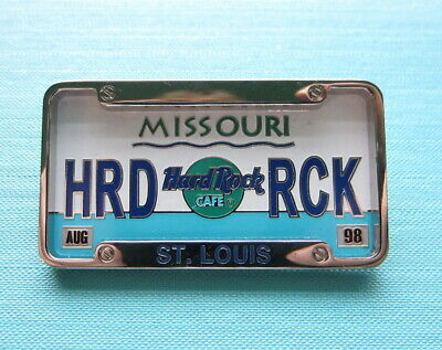 Hard Rock Cafe - St. Louis Pin 'License Plate With Bracket' Hrc Pin