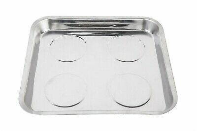 1702271 Stainless Steel Heavy Duty Large Square Magnetic Tools Tray for Mechani