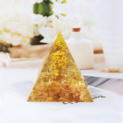 1× Pyramid Silicone Mold Resin Jewelry Making Mould Epoxy Pendant Craft DIY Tool