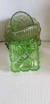 Depression Green Glass Dish X 6.