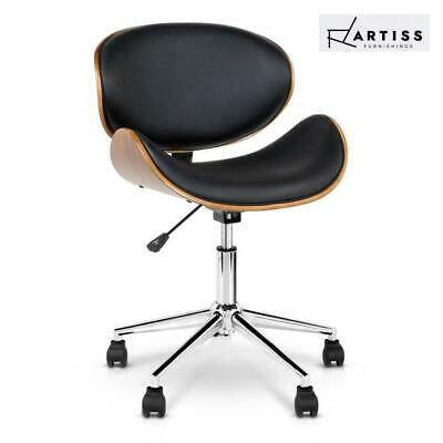 RTS Artiss Executive Wooden Office Chair Home Leather Padded Computer Chairs Sea