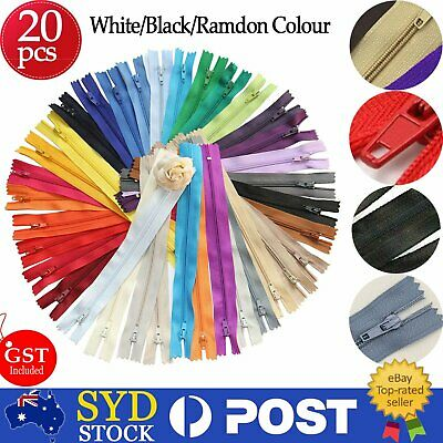 20pcs Colorful Closed End Nylon Invisible Zippers Tailor Sewing Craft DIY 20cm