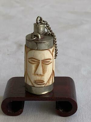 Collectable Vintage Chinese Snuff Opium Scent Bottle Ivory Coloured