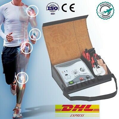 New Portable 2 Channel TENS Muscle Massager Pain Relief  Pulse Massage + Bag