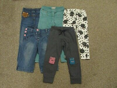 5 x Next + H&M girls 2-3 years jeggings trousers Cat Rabbit Very good condition