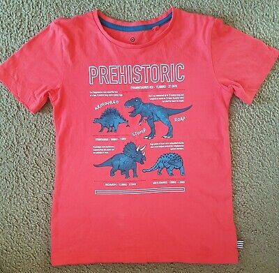 As New Boys Red Dinosaur T-Shirt Size 7