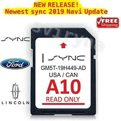 📟Ford Lincoln A10 SYNC SD Card Navigation 2019 US/CA Map Updates A9 A8 A7 A6 A5