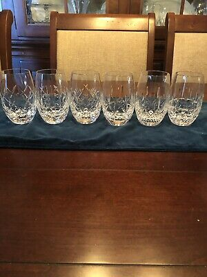 "NEW Waterford Crystal ""Patterns of the Sea"" 6-Pc Fan Wedge Cut Glass Beverage"