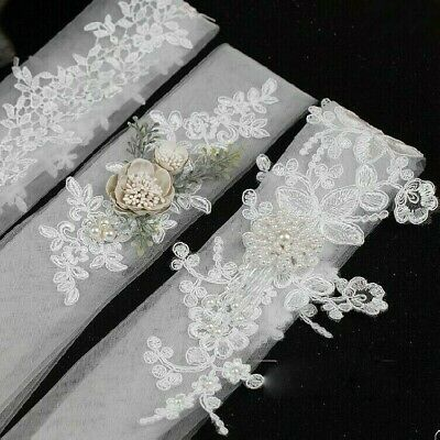 1X Lace Flower Beaded Hairband Hair Bandage Wedding Accessories Photo Prop NR9