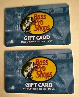 Lot Of 2 $10.00 Bass Pro Shops Or Cabela's Gift Cards No Expiration Date