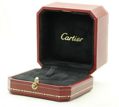 CARTIER Empty Ring Box Red Case Jewellery - Unused VGC - Fast Shipping