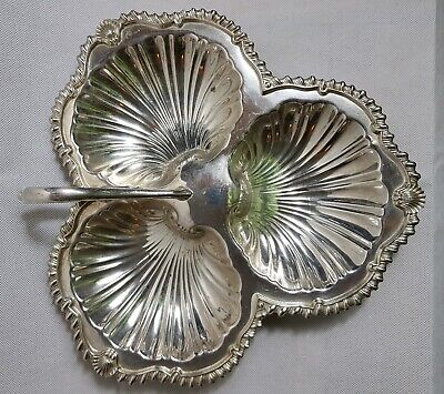 Beautiful Vintage Heavy Silver Plated Snack Dish by DSD (Length - 28 cm)