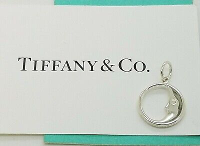Tiffany & Co 925 Sterling Silver Man On The Moon Pendant