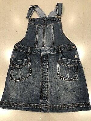 Fat Face Denim Pinafore Dress Age 8/9 Years
