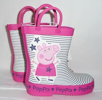 Brand New Girls Official Ex-Mothercare Peppa Pig Wellies Assorted Shoe Sizes