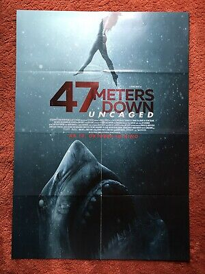47 Meters Down Uncaged Kinoplakat Poster A1, Sophie Nelisse