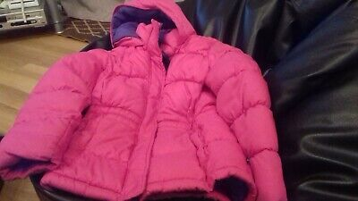Bright Pink Girls Padded Jacket age 6- Great condition