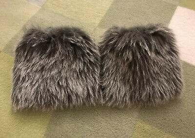 Faux Fur BOOT CUFFS In Grey