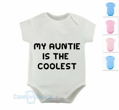 My Uncle is Coolest Novelty Babygrow Bodysuit Funny Gift Newborn 0-3-6-9 Months