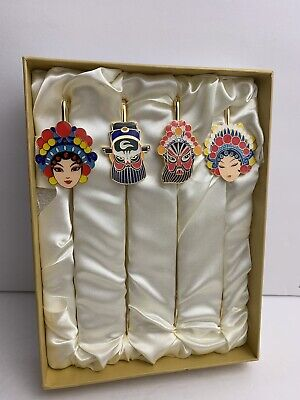 Tom Horse - Vintage NIB Chinese Tassel Hairpins -4Pack- Golden