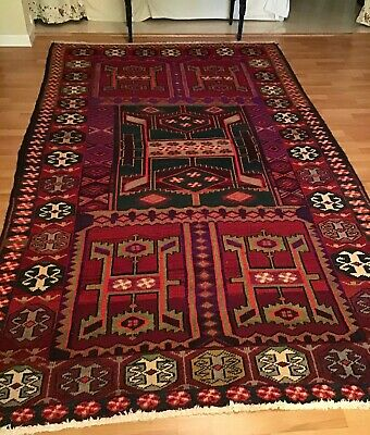 BEAUTIFUL Big Oriental Area Rug, All Hand-knotted, HAMEDAN, Multicolored