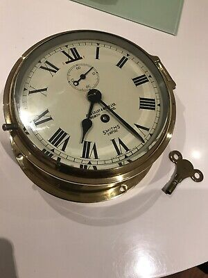Smiths Empire vintage Ship Clock Retailed By John Lilley & Gillie N/shelds