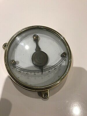 Rare Antique Ships Brass Clinometer Marine Very Heavy Cast Back Unknown Maker