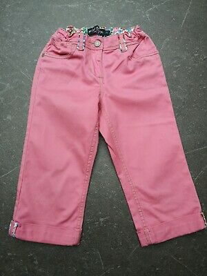 Mini boden girls cropped trousers 7y