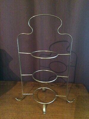 ANTIQUE EARLY 1920-30s  3 TIER SILVER PLATED EPNS CAKE STAND IN LOVELY CONDITION