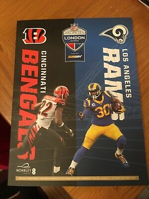 Cincinnati Bengals vs Los Angeles Rams Official Programme at Wembley 27.10.19