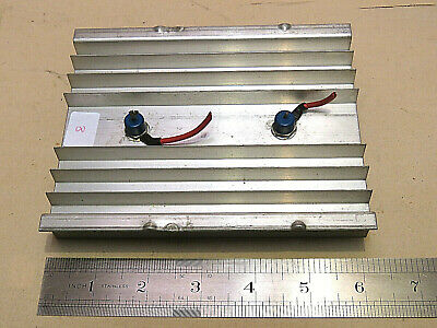 Aluminium Heat Sink  Drilled For 2 Power Diodes. Plus 2 Diodes Fitted.   #8