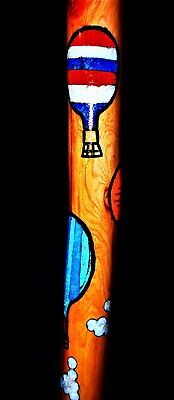 """New Mexico Handmade""""Balloon Festival""""Hiker/Inlaid Turquoise,Red Coral,MO Pearl!!"""