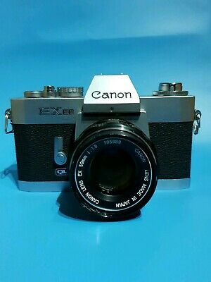 Canon SLR Film Camera With 50mm F1.8 Lens like AE-1 camera
