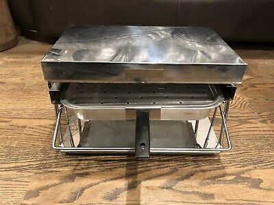 Vintage Industrial Stainless Steel Kitchen Electronic Radiant Queen Food Warmer