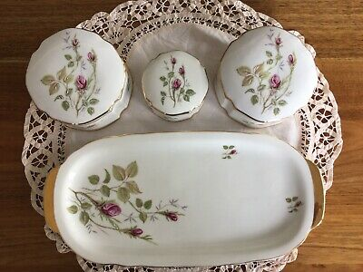 4 Piece Vintage Coimbra from Portugal Dressing Table Trinket Set
