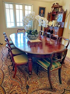 Antique William IV Dining Table & Chairs