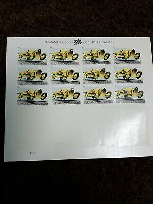 Usps Postage Stamps Indianapolis 500 Half Sheet Of 12, Forever Stamps Unused
