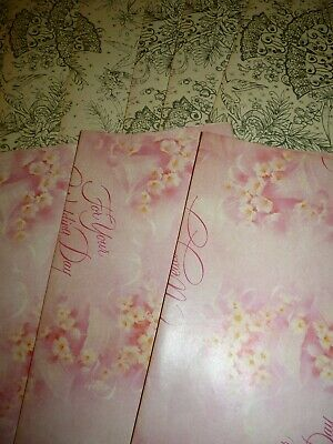 Bulk Lot Vintage Wedding Paper 9 Sheets
