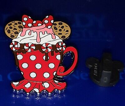 Disney Pin Minnie Happy Holidays Hot Coco Mystery Pin Authentic New Free Ship